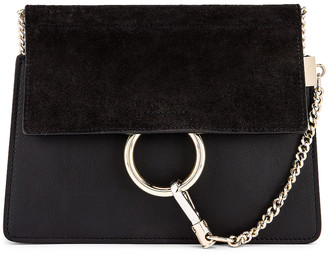 Chloé Mini Faye Shoulder Bag in Black | FWRD