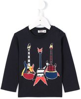 Junior Gaultier guitar print T-shirt - kids - Cotton - 9 mth