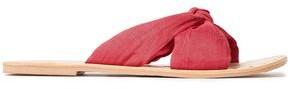 Manebi Knotted Linen Slides