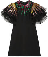 Gucci Embroidered sequin tulle dress