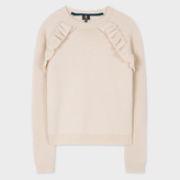 Paul Smith Women's Taupe Wool Sweater With Frill Detailing