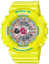Baby-G Candy Ladies' Yellow Resin Strap Watch