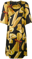 Dolce & Gabbana pasta print shift dress - women - Silk - 40