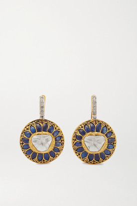 Amrapali 18-karat Gold And Sterling Silver Multi-stone Earrings - one size