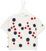 Moncler floral appliqué T-shirt - kids - Cotton/Polyamide - 8 yrs