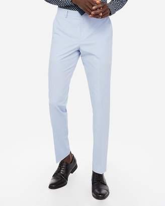 Express Slim Light Blue Cotton-Linen Stretch Suit Pant