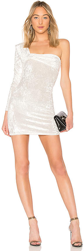 Baja East One Sleeve Contour Mini Dress