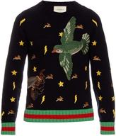 Gucci Motif-embroidered wool sweater