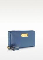 Marc Jacobs Deluxe Denim Blue Leather Wallet