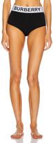 Burberry High Waisted Bikini Bottom in Black | FWRD
