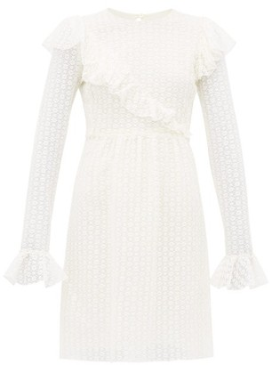 Giambattista Valli Lace Cotton-blend Mini Dress - Ivory