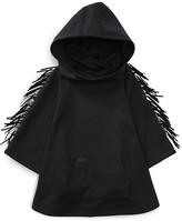 Ralph Lauren Girls' Fringed Ponte Hooded Poncho - Sizes S-XL