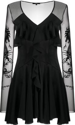 Diesel Sheer Long-Sleeve Mini Dress