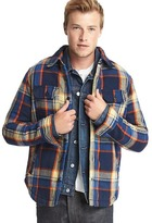 Gap Plaid sherpa-lined shirt jacket