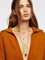 Free People Semiprecious Stone Coin Necklace