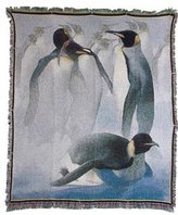 Mill Street Design Penquins Tapestry Throw Blanket