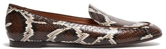 Aquazzura Purist Elaphe Loafers - Brown