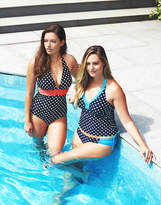 figleaves swimwear Tuscany Spot Halter Tummy Control Swimsuit
