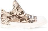 Cinzia Araia python scale sneakers