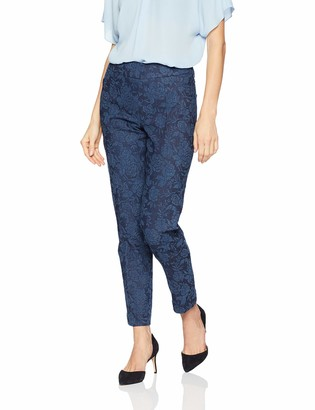 Slim Sation SLIM-SATION Women's Wide Band Pull on Ankle Pant with Tummy Control