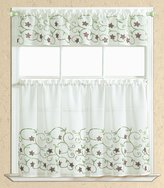 RT Designers Collection Lotus Embroidered Kitchen Curtain