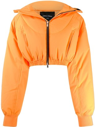 CHEN PENG cropped puffer jacket