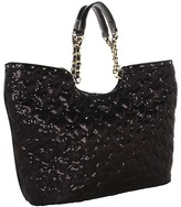 Betsey Johnson High Sequency Tote (Black) - Bags and Luggage