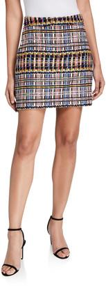Milly Multicolor Sparkle Tweed Modern Mini Skirt