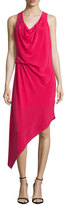 Haute Hippie Sleeveless Asymmetric Hem Dress, Raspberry