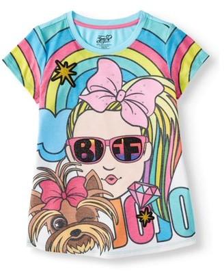 Nickelodeon Jojo Siwa JoJo Siwa and BowBow Glitter Graphic T-Shirt (Little Girls & Big Girls)