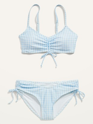 Old Navy Patterned Cinch-Tie Bikini 2-Piece Swim Set