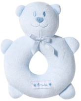 Emile et Rose Blue Velour Teddy Rattle
