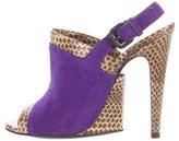 Bottega Veneta Snakeskin Slingback Sandals