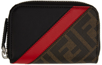 Fendi Brown Forever Mini Zip Wallet