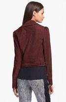 Diane von Furstenberg 'Kazara' Suede Moto Jacket