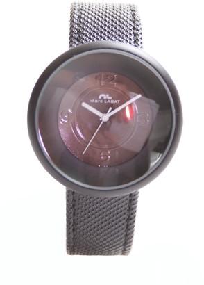 Marc Labat H10MON5255N-Pop Women's Quartz Analogue Watch-Dial-Black PU Strap-Black