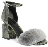 Alexander Wang Women's Abby Genuine Rabbit Fur & Snakeskin Sandal