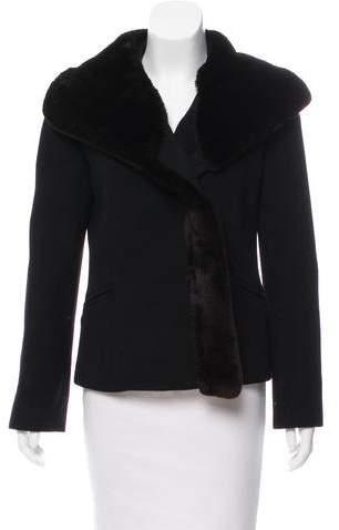 Giorgio Armani Fur-Trimmed Structured Jacket