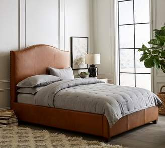 Pottery Barn Raleigh Curved Leather Bed