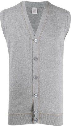 Eleventy V-neck sleeveless cardigan