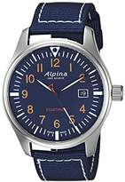 Alpina Men's 'Startimer' Swiss Quartz Stainless Steel and Nylon Casual Watch