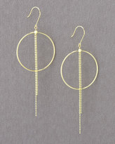 Jill Alberts Single Circle Chain Earrings