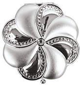 Swarovski Silvertone Brass Crystal Mirror Compa