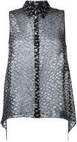 Versus sleeveless shirt - women - Silk/Polyester - 46