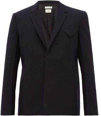 Bottega Veneta Single-breasted Wool-felt Jacket - Navy