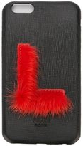Fendi 'ABCover L' iPhone 6 hard case - women - Calf Leather/Mink Fur - One Size
