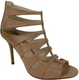 Michael Kors Mavis Back Zip Womens Leather Dress Sandals Shoes