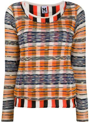 M Missoni Check Striped Jumper
