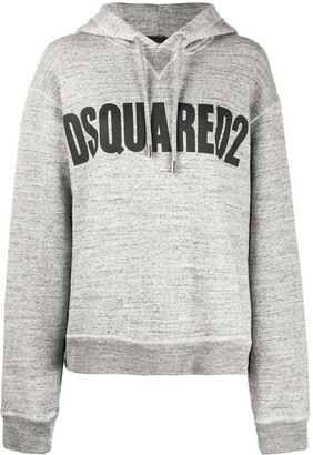 DSQUARED2 Logo-Print Relaxed-Fit Hoodie