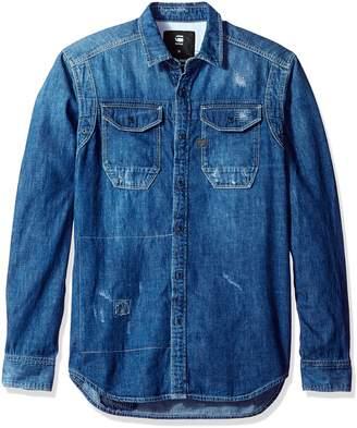 G Star Men's Wolker Long Sleeve Button Down Shirt